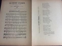 Partition : Le Petit Panier (chanté Par Mayol - L. Lust- 2 Feuillets - Début Du Siècle Dernier - Bon état) - Opera