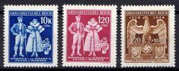 Böhmen Und Mähren 1944 Mi 133-135 ** [241213III] @ - Ocupación 1938 – 45