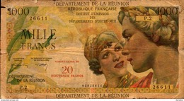LA REUNION 20NF/1000 De 1971nd  Pick 55b - Reunion