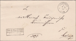 Brief Aus Coethen 1876 Nach Colwig - Deutschland