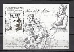 Barbuda Mail 1986,1V In Block,ovpt Barbuda Mail,Johann Sebastian Bach,MNH/Postfris(L3077) - Music