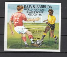 Barbuda Mail 1986,1V In Block,ovpt Barbuda Mail,football,fussball,voetbal,fútbol,calcio ,MNH/Postfris(L3078) - World Cup