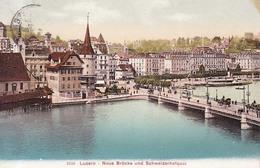Luzern Neue Brucke Tram Tranvias 1910 - LU Lucerne
