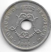 Belguim 10 Centimes 1901 French   Vf - 1865-1909: Leopold II