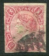 Edifil 69, 2 Cuartos Carmín Sin Dentar De 1865 En Usado - 1850-68 Regno: Isabella II