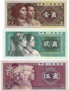 CHINA 1 2 5 JIAO 1980 P-881, 882, 883 UNC [CN4094a-4096a] - China