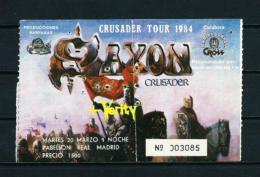 SAXON  (año 1984) - Entradas A Conciertos