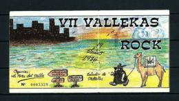 VII FESTIVAL De VALLEKAS  (1986) - Entradas A Conciertos