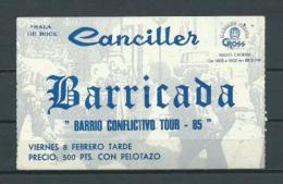 BARRICADA  (año 1985) - Entradas A Conciertos