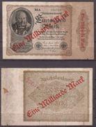 Weimarer Republik , Infla , 1 Milliarde Mark , 1922 , RB-110 E , VG - 1 Mrd. Mark