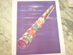 ANCIENNE PUBLICITE BONBON COQ BLANC 1951 - Posters