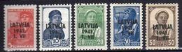 Lettland 1941 Mi 1-2; 4-6 ** [300515XIII] - Occupation 1938-45