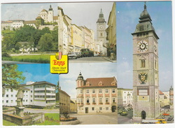 Enns: FORD FIËSTA, FIAT 125 S, VW KLEINBUS, CITROËN DYANE  - Schloß Ennsegg Und Stadtturm - (Austria) - Toerisme
