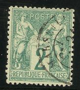 FRANCIA Yvert 62 (º) Tipo I Sage  Paix Et Commerce 2 Céntimo Verde  1876  NL1099 - 1876-1878 Sage (Type I)