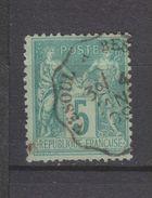 Yvert 75 Oblitéré Vesoul à Besançon - 1876-1898 Sage (Tipo II)