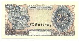Indonesia 2 1/2 Rupiah 1968 X Replacement UNC - Liechtenstein