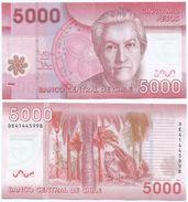 Chile 5.000 Pesos 2014 (polímero) Pick 163.d Ref 1336 - Chile
