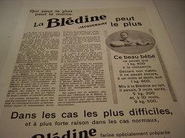 ANCIENNE PUBLICITE LA BLEDINE DE JACQUEMAIRE 1930 BEBE 1.400 KG - Posters