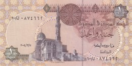 EGYPT 1 EGP 2004 P-50 MWR-RE20 SIG/ OQDA #21b REPLACEMENT 600 UNC LARGE W/M - Egypte