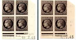 """CERES DE MAZELINE"" -  N° 677** (12/2/45): ""paire Galvano A+B Du 1er Tirage Sur Presse 4"" - 1945-47 Ceres Of Mazelin"