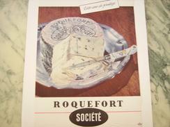 ANCIENNE PUBLICITE ROQUEFORT SOCIETE 1951 - Posters