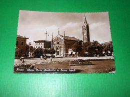 Cartolina Rimini - Chiesa Maria Ausiliatrice In Piazza Tripoli 1950 Ca - Rimini