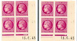 """""""CEREZ DE MASELIN"""" -    N° 679** (13/5/45): """"paire Galvano A+B Du 4e Tirage Sur Presse 5"""" - 1945-47 Ceres Of Mazelin"""