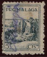 Guerra Civil / Spanish Civil War - Almogía, 5c, Sobrecargado A Lapiz Azul, No Catalogado *, Manchitas - Vignettes De La Guerre Civile
