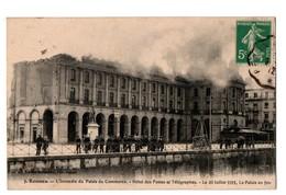 35 - RENNES . L'INCENDIE DU PALAIS DU COMMERCE . Hôtel Des Postes Et Télégraphes - Réf. N°3249 - - Rennes