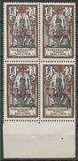 1941-43 INDE FRANCAISE 178** France Libre , Surchargé, Bloc De 4 - Indië (1892-1954)