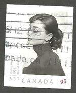 Sc. # 2272 Art Canada, Yousef Karst, Audrey Hepburn U.S. Rate Single 2006 Used K381 - 1952-.... Règne D'Elizabeth II