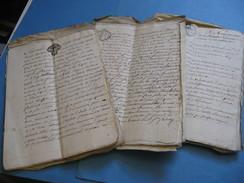 INTERESSANT DOSSIER 30 DOCUMENTS CONCERNANT FAMILLE FEDERY Seigneur DE VAUX 1766 LYON ARDECHE VILLEURBANNE CREANCES - Autógrafos