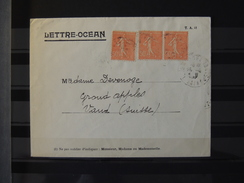 France - Lettre Ocean A Destination De La Suisse // Compagnie Radio Maritime - France
