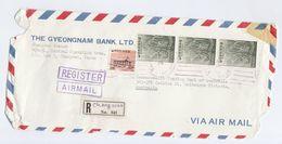 REGISTERED SOUTH KOREA Stamps COVER GYEONGNAM BANK To COMMONWEALTH BANK AUSTRALIA Banking Finance - Korea, South