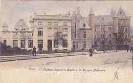 Gent Gand - Le Château Gérard Le Diable Et La Banque Nationale (animatie, Gekleurd, 1905) - Gent