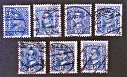 HENRYK SIENKIEWICZ ECRIVAIN 1928 - OBLITERES - YT 345 - MI 259 - VARIETES DE TEINTES ET D'OBLITERATIONS - Gebraucht