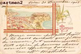SOUVENIR DE MONACO MULTIVUES STYLE GRUSS OFFERT PAR LA CORDONNERIE DU CHAT NOIR NICE - Monaco