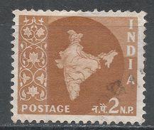 India 1958. Scott #303 (U) Map Of India, Carte Géographique - 1950-59 République