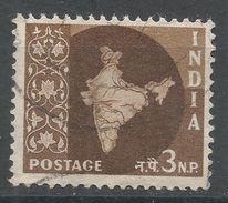 India 1958. Scott #304 (U) Map Of India, Carte Géographique - 1950-59 République