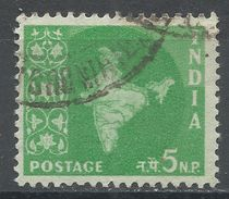India 1958. Scott #305 (U) Map Of India, Carte Géographique - 1950-59 République