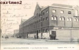 BRUXELLES-SCHAERBEEK LE DEPOT DES TRAMS TRAMWAYS SCHAARBEEK BELGIQUE LAGAERT 1900 - Schaarbeek - Schaerbeek