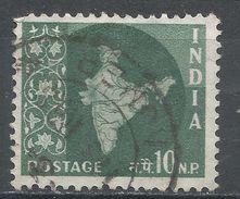 India 1958. Scott #308 (U) Map Of India, Carte Géographique - 1950-59 République