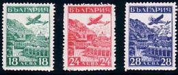 1932 Bulgaria  Mi 249-251 Air Post Exhibition Strasbourg MNH - 1909-45 Kingdom