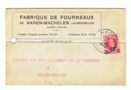 Carte Postale à Entête -  Fabrique De Fourneaux De HAREN - MACHELEN En 1928 - Chaudfontaine (b207) - Machelen