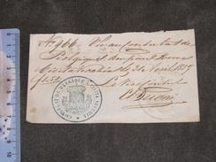 LAISSER PASSER - CONSULAT DE BELGIQUE - DE ROME A NAPLES - 1857 - CACHETS - Documents Historiques