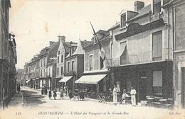 Ouistreham (Calvados) - L'Hôtel Des Voyageurs Et La Grande Rue - Carte ND Phot; N° 356 - Ouistreham