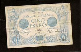 Billet France 5 Francs Bleu Du 19 Avril 1913 (taureau) TB Pas De Trou - 1871-1952 Circulated During XXth