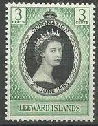 Leeward Islands  - 1953 Coronation MLH *   Sc 132 - Leeward  Islands