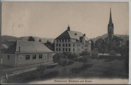 Niederuzwil Nieder-Uzwil - Schulhaus Und Kirche - Photo: Carl Künzli No. 4161 - SG St. Gall
