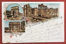 RICORDO DI ROMA  GRUSS AUS D'EPOCA PER L'ESTERO IN DATA  14/10/1897 - Parks & Gardens